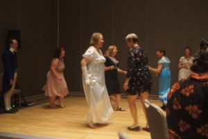 Photo of Regency Dancing at the Soirée.
