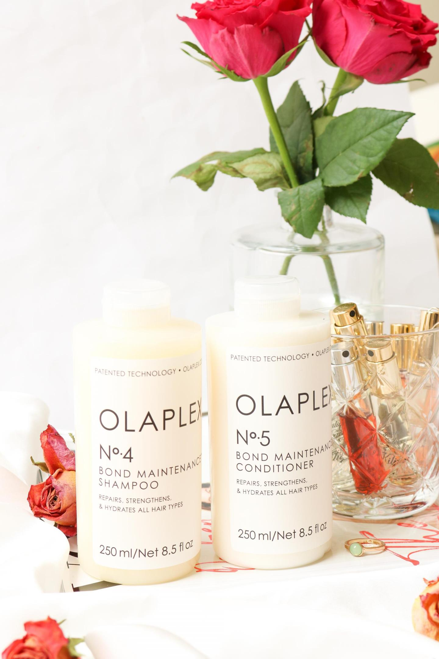 Olaplex nr. 4 Bond Maintenance Shampoo and nr. 5 Bond Maintenance Conditioner
