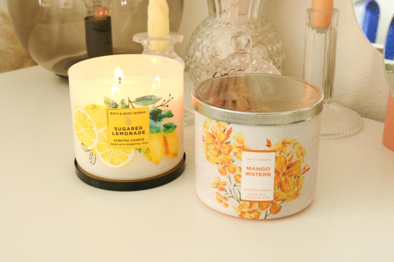 bath and body works sugared lemonade en mango waters