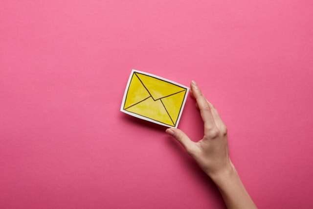 Sending e-mail.
