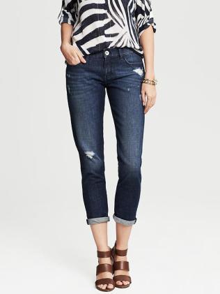 Heritage Distressed Ankle Jean