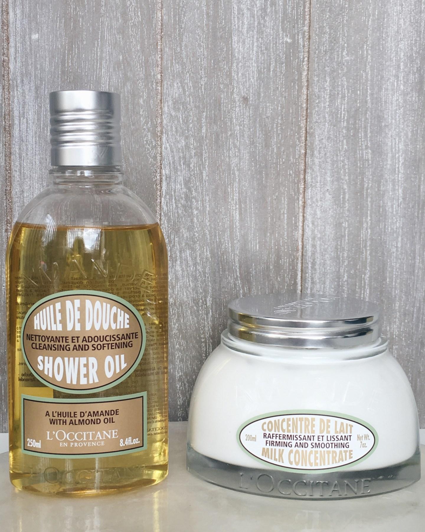 L'Occitane Almond Shower Oil and Milk Concentrate Body Cream