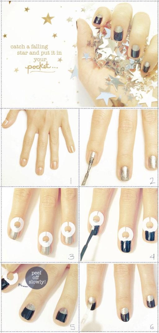 DIY manicure blue moon