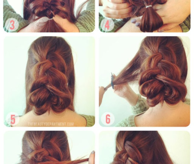 Inside Out French Braid  Twists