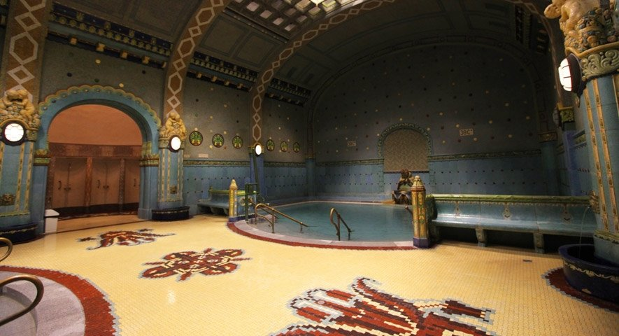 """Gellert Thermal Baths - A Guide to Budapest Thermal Baths. Bathing in thermal waters has been part of everyday life in Budapest for centuries. Officially named """"The City of Spas"""". which of Budapests baths should you visit. www.awelltravelledbeauty.com"""