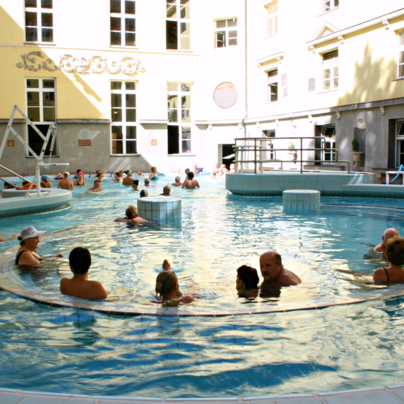 "Lukas baths - A Guide to Budapest Thermal Baths. Bathing in thermal waters has been part of everyday life in Budapest for centuries. Officially named ""The City of Spas"" which of Budapests baths should you visit. www.awelltravelledbeauty.com"