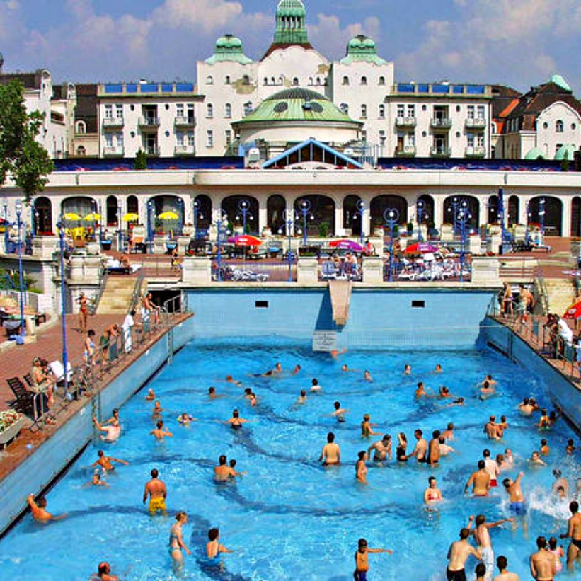 "Gellert Thermal Baths - A Guide to Budapest Thermal Baths. Bathing in thermal waters has been part of everyday life in Budapest for centuries. Officially named ""The City of Spas"". which of Budapests baths should you visit. www.awelltravelledbeauty.com"