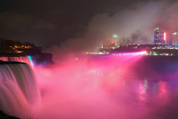 'Think pink!' at the Niagara Falls