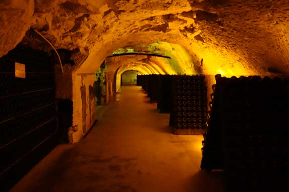 {Moet has 28 kilometres of Champagne cellars... the largest in the region}