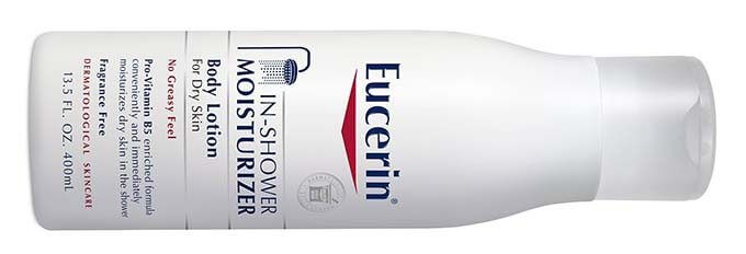 eucerin in shower moisturiser