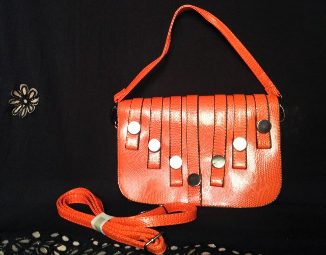 Orange Faux Leather Purse from IGP