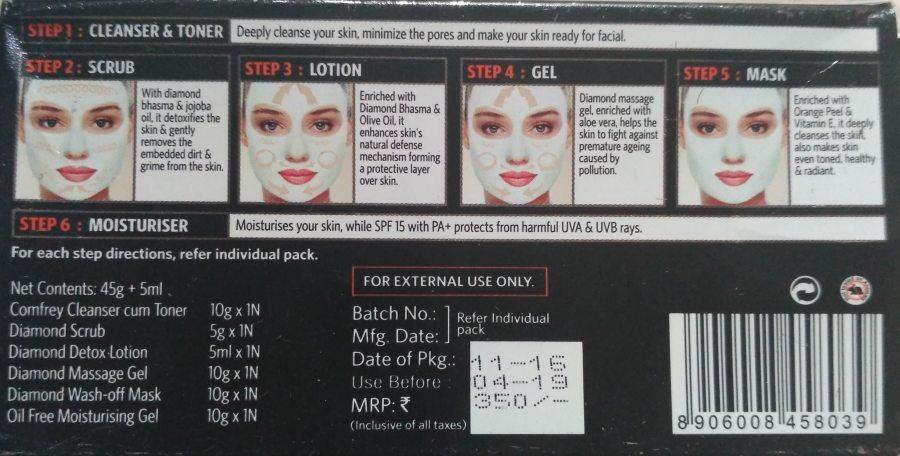 VLCC Diamond Facial Kit How To use