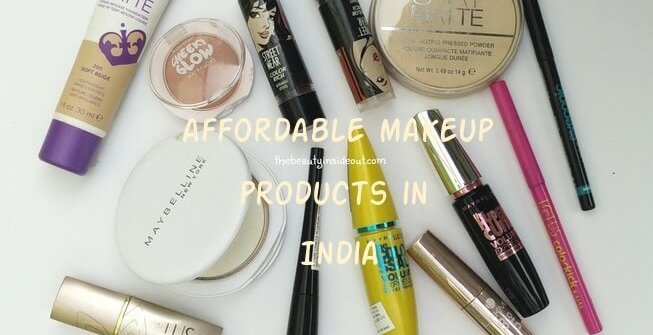 list of Affordable Makeup Products in India