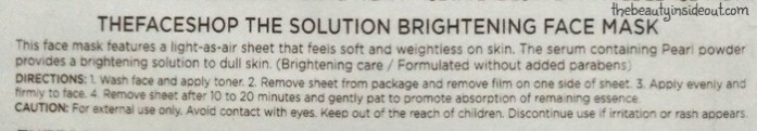the-face-shop-the-solution-brightening-face-mask-description