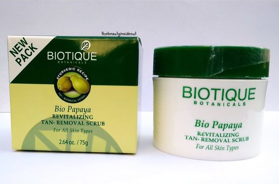 Biotique Bio Papaya Revitalizing Tan Removal Scrub