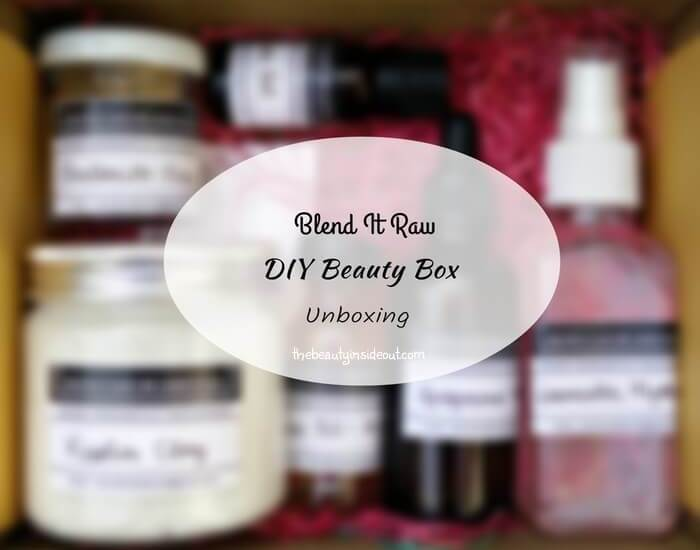 Blend It Raw DIY Beauty Box Unboxing
