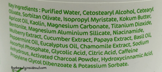 Mamaearth C3 Face Mask Ingredients