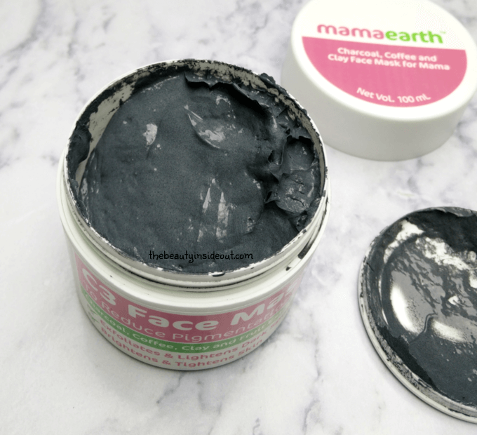 Mamaearth C3 Face Mask Swatch