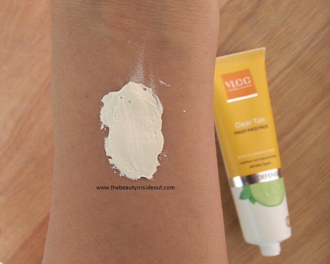 VLCC Clear Tan Fruit Face Pack Swatch