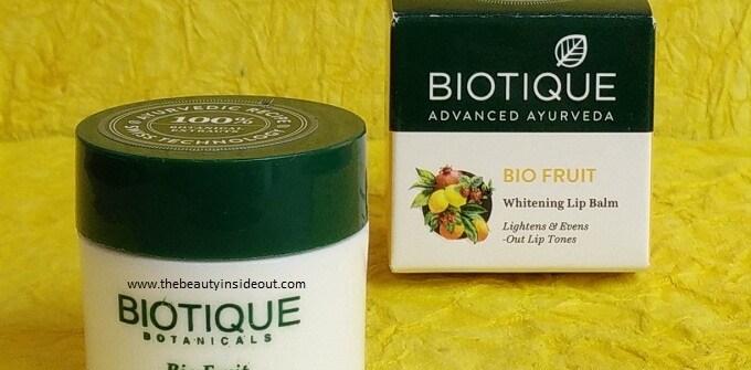 Biotique Bio Fruit Whitening Lip Balm Review