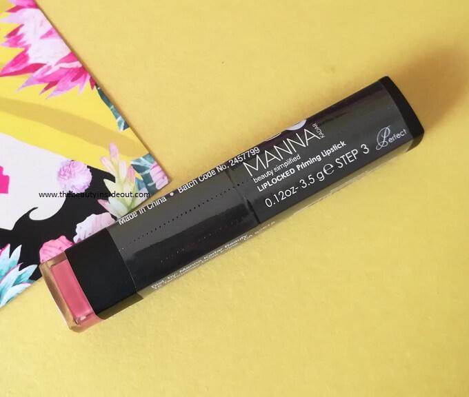 Manna Kadar Lip Locked Priming Lipstick