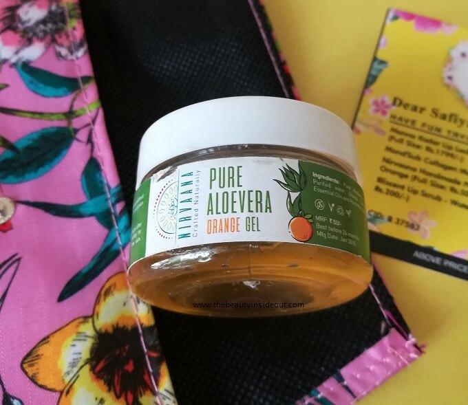 Nirvaana Handmade Pure Aloe Vera Gel Orange