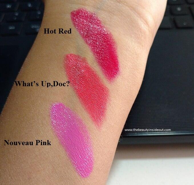 Wet n Wild Silk Finish Lipstick Swatches