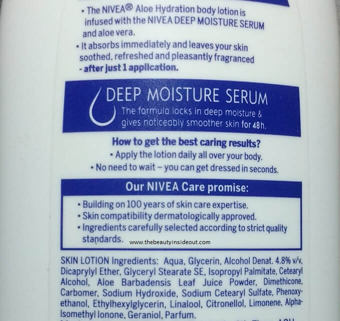 Nivea-Aloe-Hydration-Body-Lotion Ingredients
