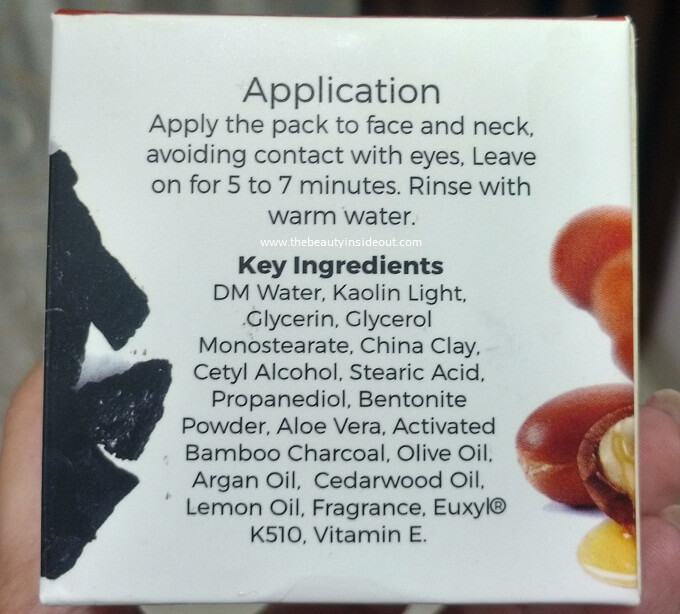 eva Activated Charcoal Face Pack Ingredients