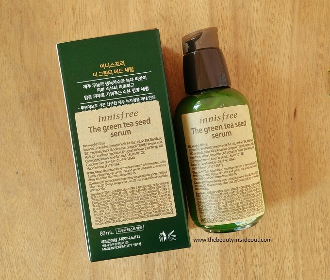 Innisfree Green Tea Seed Serum Packaging