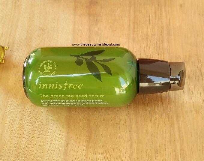 Innisfree Green Tea Seed Serum Bottle