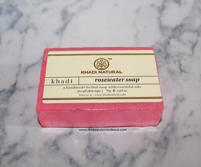 Khadi Natural Rosewater Soap