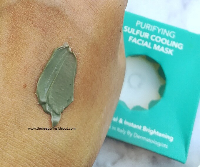 O3 Sulfur Cooling Mask Swatch