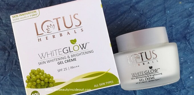 Lotus White Glow Gel Cream
