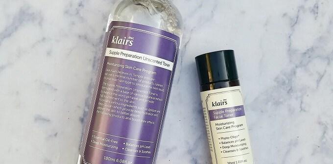 Klairs Supple Preparation Facial Toner Unscented vs Scented Review