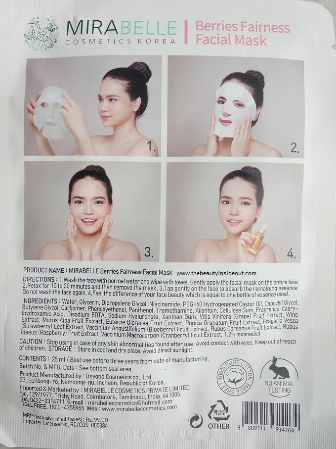 Mirabelle Sheet Mask