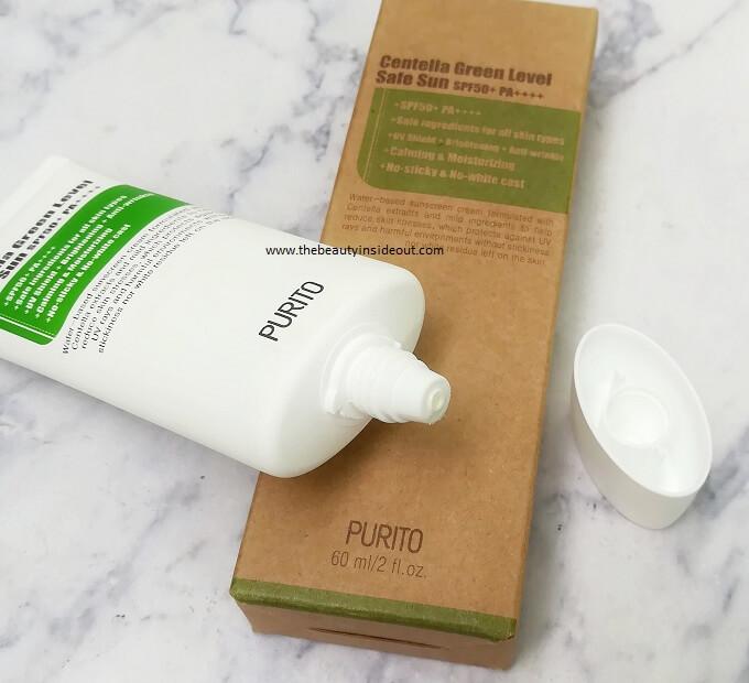 Purito Centella Green Level Safe Sun Packaging