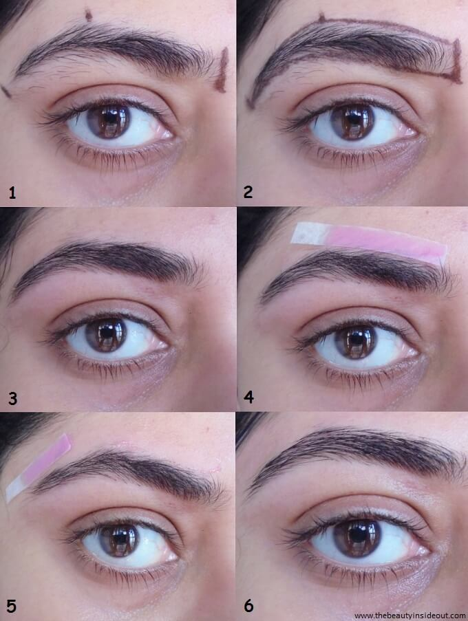 How to Shape Your Eyebrows At Home Step by Step Tutorial (Left Eyebrow)