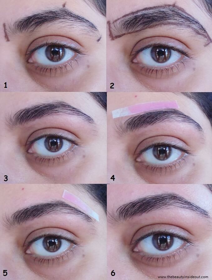 How to Shape Your Eyebrows At Home Step by Step Tutorial (Right Eyebrow)