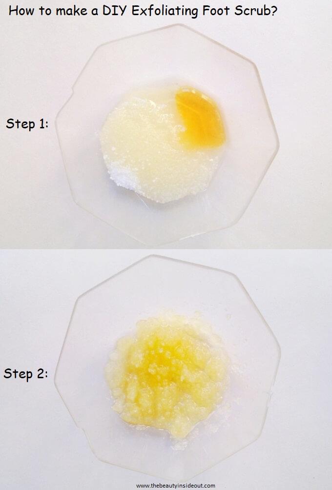 How to make a foot sccrub