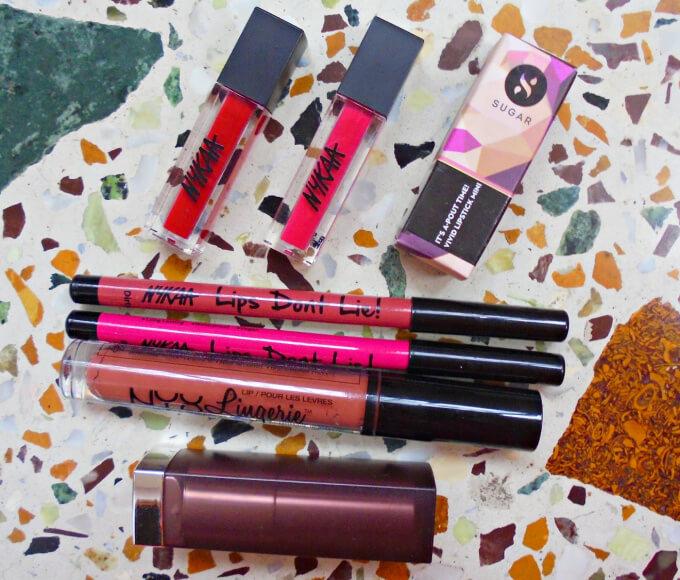 Bridal Makeup Kit Lip Products