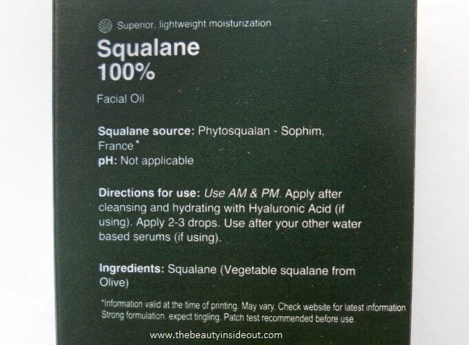 Minimalist Sqaulane Ingredients