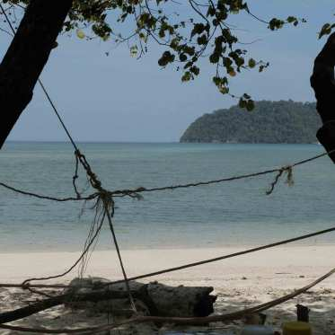 Vue sur la plage sur l'île de Koh Phayam, Thaïlande