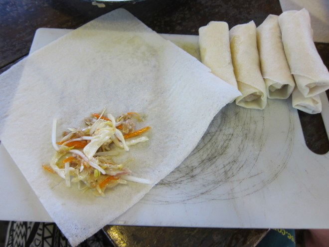 Rouleaux de printemps thaïs, cuisine thaïe