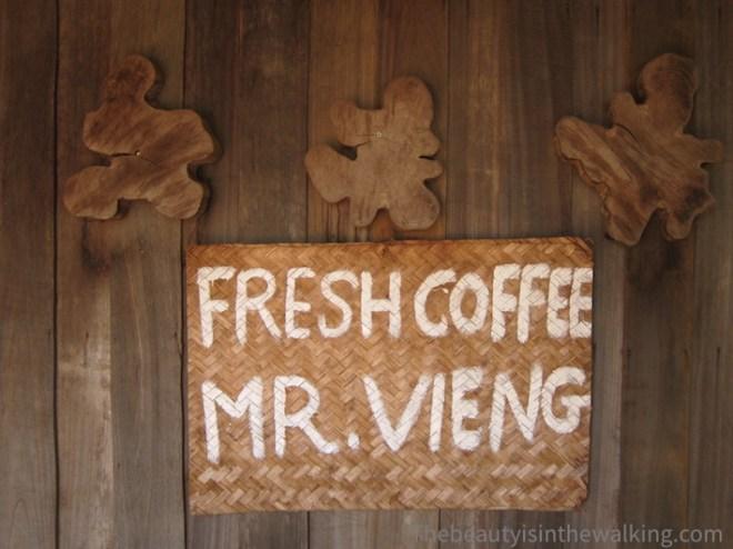Chez Mr Vieng, producteur de café