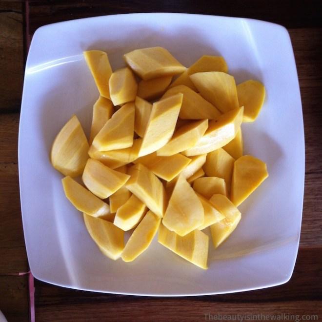 Assiettes de mangues