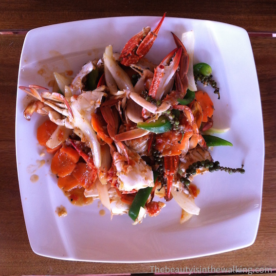Crab with green Kampot pepper.
