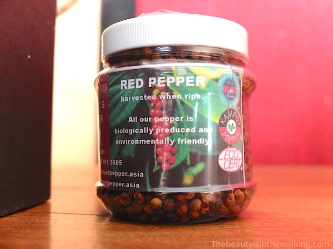 Red Kampot pepper pot