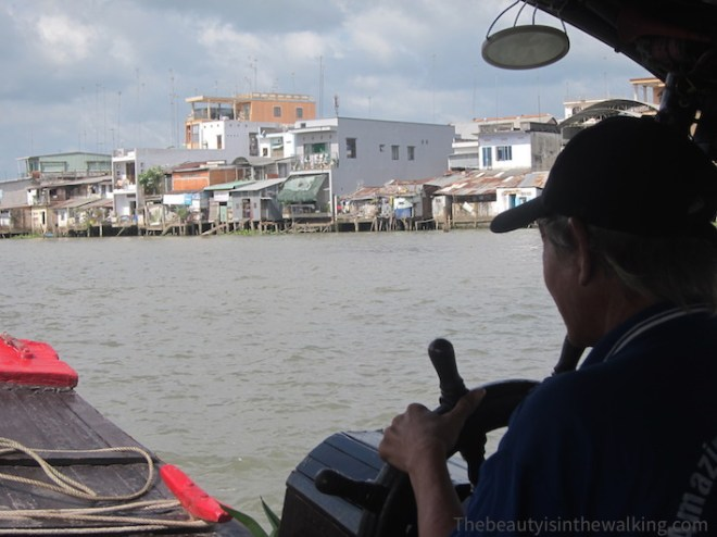 On the boat towards Cai Be floating markets