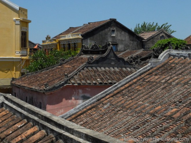Roofs in the ancient city of Hoi An